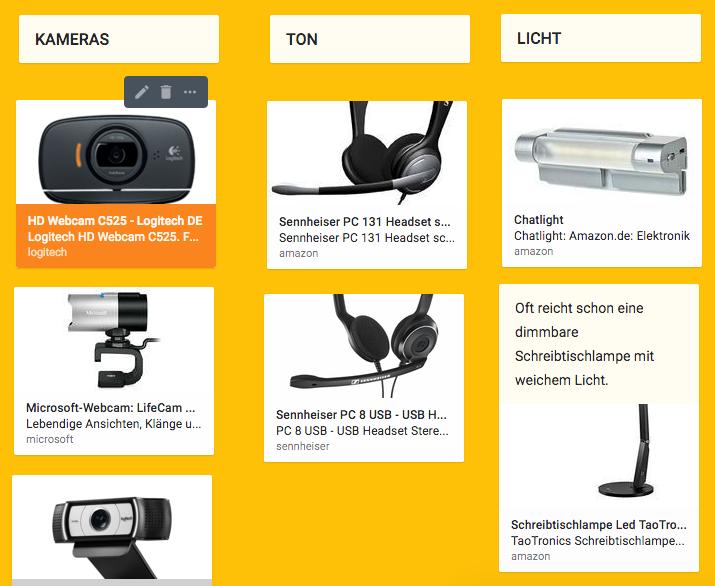 Webinar Equipment